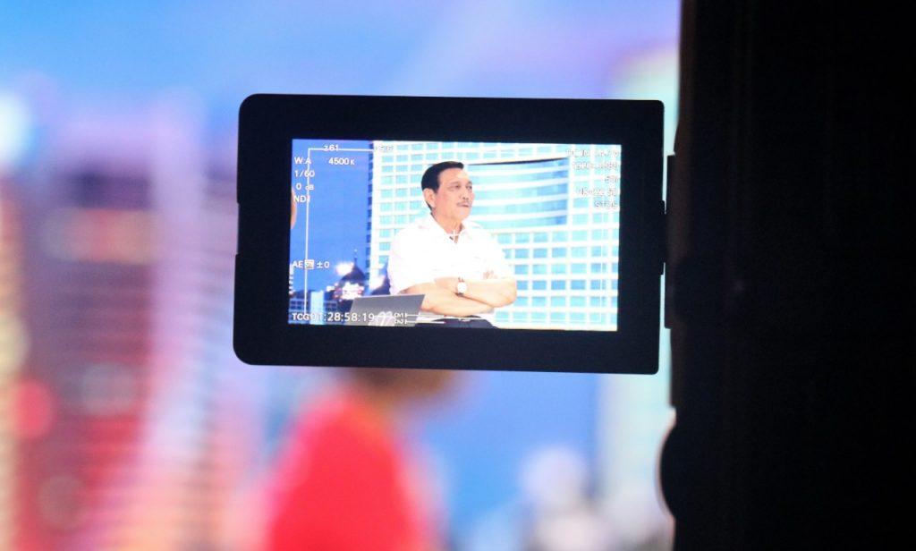Menko Kemaritiman Luhut B. Pandjaitan menjadi narasumber CNBC Indonesia dalam program TV Closing Bell CNBC