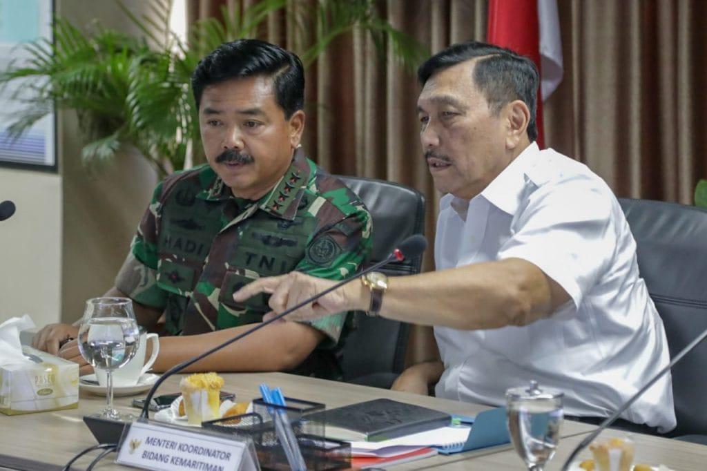 Menko Luhut Rapat Revitalisasi Pushidros TNI AL