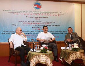 Menko Luhut Hadiri Undangan Lembaga Kerjasama Ekonomi, Sosial, dan Budaya Indonesia Tiongkok