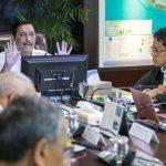 Rapat internal dipimpin Menko Kemaritiman Luhut B. Pandjaitan