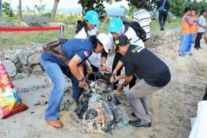 Gerakan Indonesia Bersih, Aksi Bersih Pantai di Ambon Bersama Ibu Negara