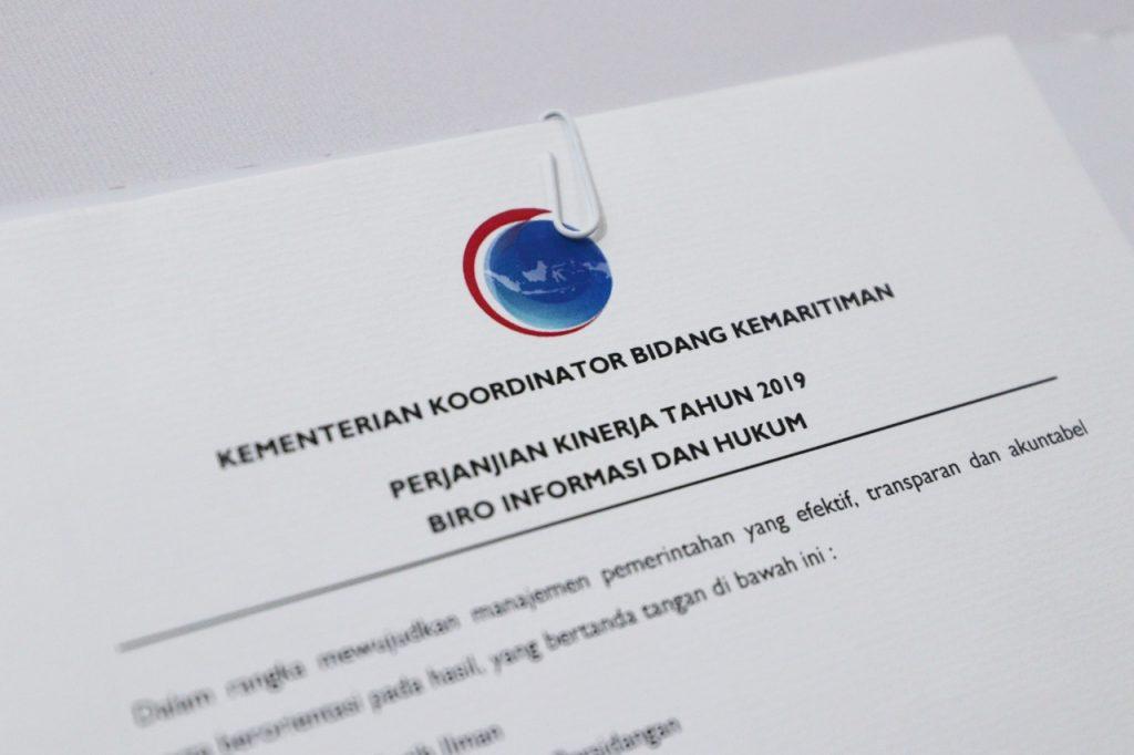 IImplementasi RB pada Area Penguatan Akuntabilitas: Penandatangan PK 2019 Pejabat Eselon 3 dan 4 di lingkup Kemenko Bidang Kemaritiman