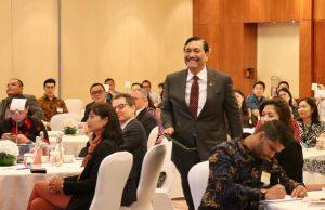 Menko Bidang Kemaritiman Luhut B. Pandjaitan menjadi Speakers di Bank Of America Merrill Lynch Macro Outlook Seminar Indonesia di Hotel Mandarin