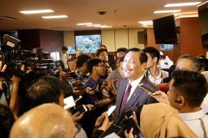Menko Bidang Kemaritiman Luhut B. Pandjaitan Afternoon Tea bersama Wartawan di Kantor Maritim