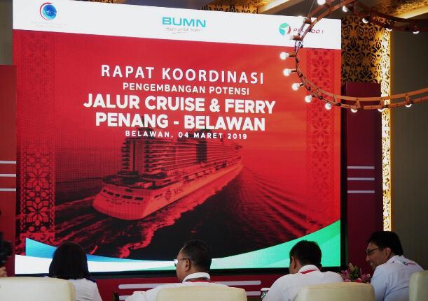 Rapat Koordinasi Pengembangan Potensi Jalur Cruise dan Fery Belawan-Penang