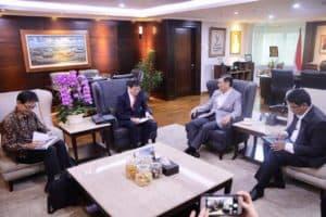 Menko Luhut Menerima President Jetro Mr. Akahoshi Di Kantor Maritim