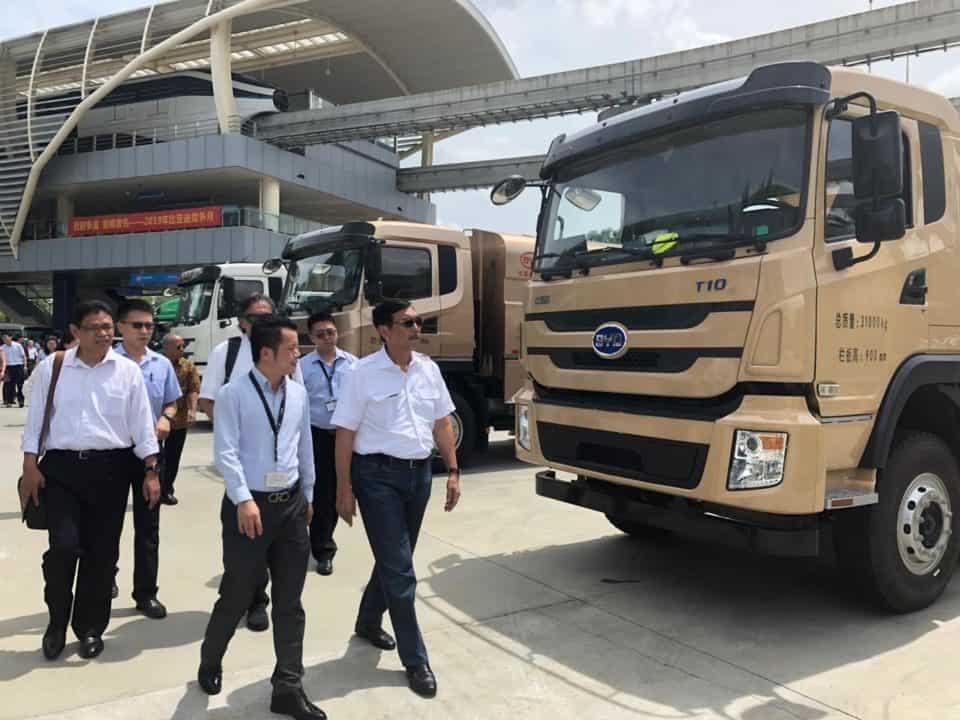 Kunjungan Kerja Menko Bidang Kemaritiman BYD (Buy Your Dream) co.ltd Produsen Mobil dan Kereta Listrik, Ghuangzou Diterima CEO Wang Chuanfa
