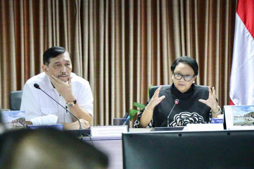 Menko Bidang Kemaritiman Luhut B. Pandjiatan Memimpin Rapat Koordinasi Persiapan Indonesia-africa Infrastructure Dialogue