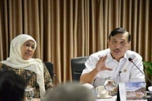 Menko Bidang Kemaritiman Luhut B. Pandjaitan Memimpin Rakor Pembangunan Dan Pengembangan Komoditas Pergaraman Nasional