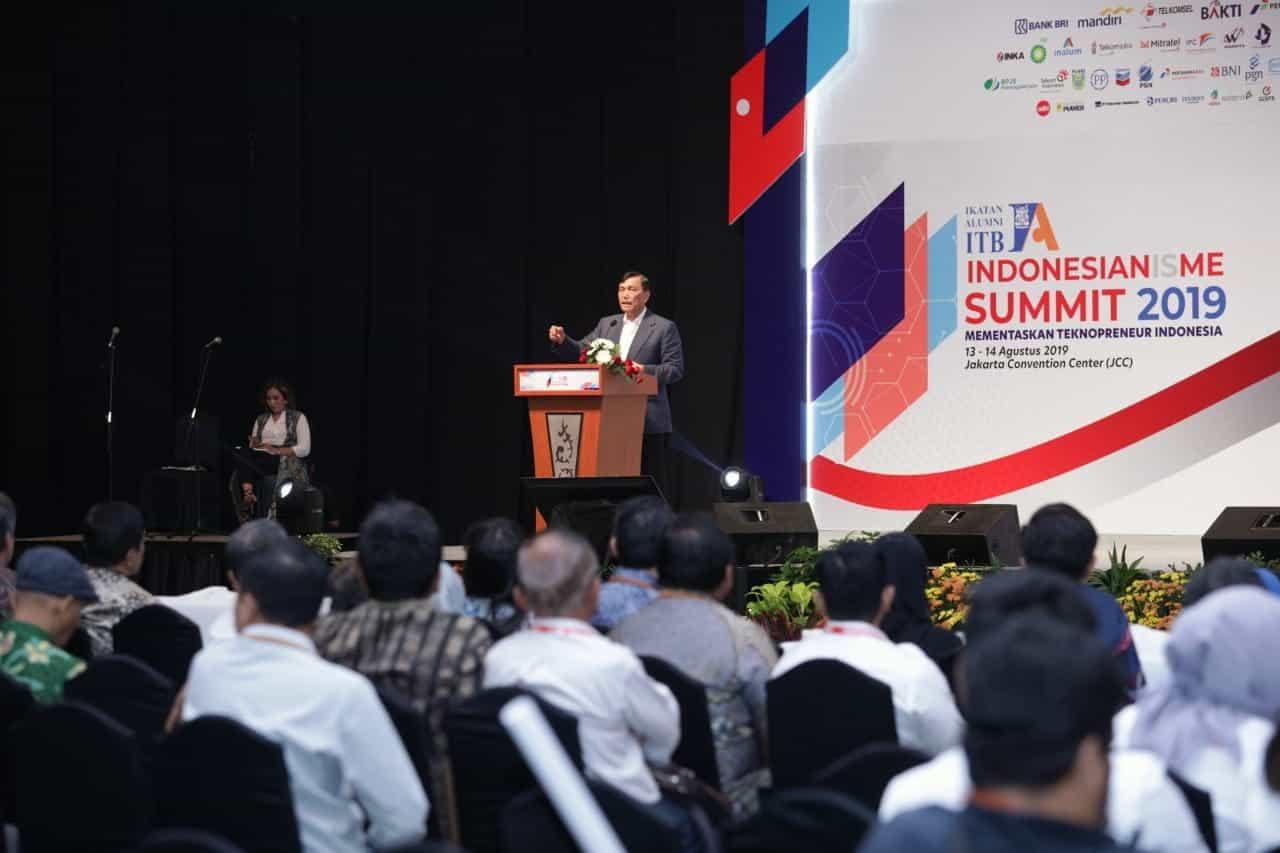 Keynote Speech Menko Kemaritiman Luhut B. Pandjaitan pada acara Indonesianisme Summit 2019 Ikatan Alumni ITB