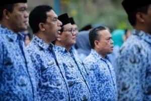 Upacara memperingati Hari Kemerdekaan Republik Indonesia tanggal 17 Agustus 2019 ruang lingkup Kementerian Koordinator Bidang Kemaritiman
