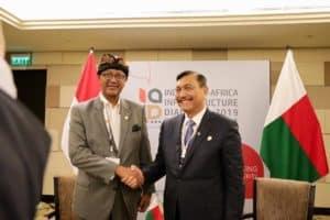 Menko Bidang Kemaritiman Luhut B. Pandjaitan Bilateral Meeting dengan Menteri Ekonomi dan Keuangan Madagaskar