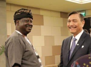 Menko Bidang Kemaritiman Luhut B. Pandjaitan Bilateral Meeting dengan African Union