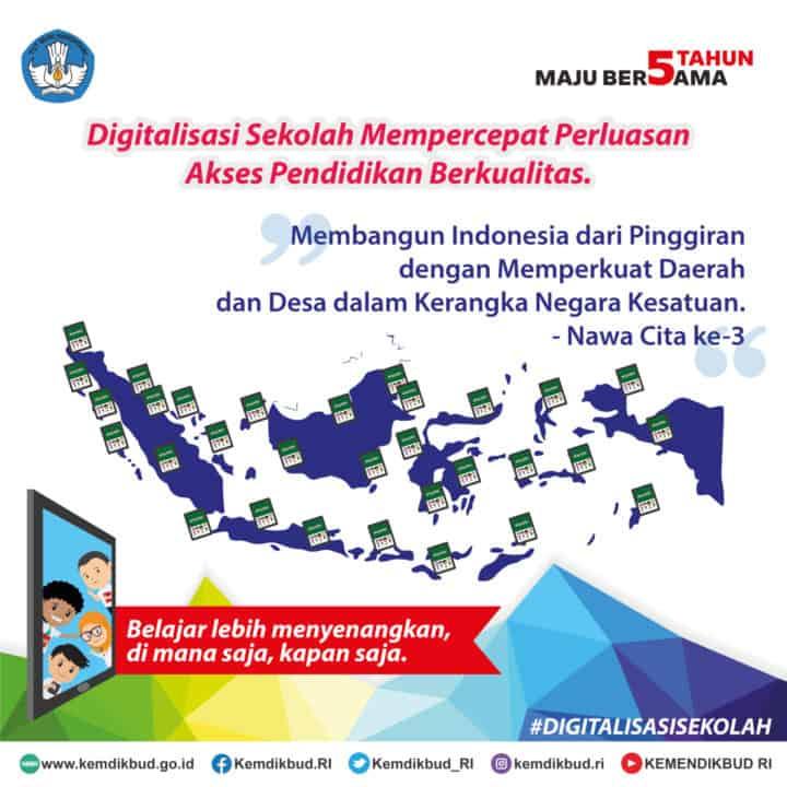 Digitalisasi Sekolah Percepat Perluasan Akses Pendidikan Berkualitas di Daerah 3T