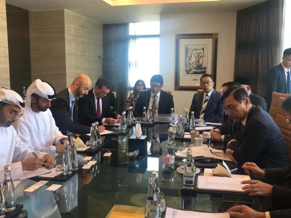 Menko Maritim dan Investasi Meeting dengan Menteri Industri dan Energi UAE