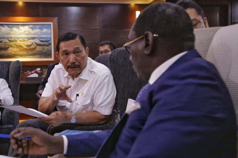 Menko Kemaritiman Luhut B. Pandjaitan dengan Menteri Bappenas Senegal Mr.Cheikh Kante
