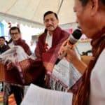 Menko Marves Luhut B. Pandjaitan Bersama Menparekraf Wishnutama Kunjungan ke Desa Sigapiton Kabupaten Tobasa