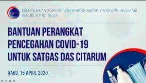 Kemenko Marves Berikan Bantuan Kepada Satgas DAS Citarum untuk Korban Banjir, Sekaligus Penanganan Pandemik Covid-19 di Bandung