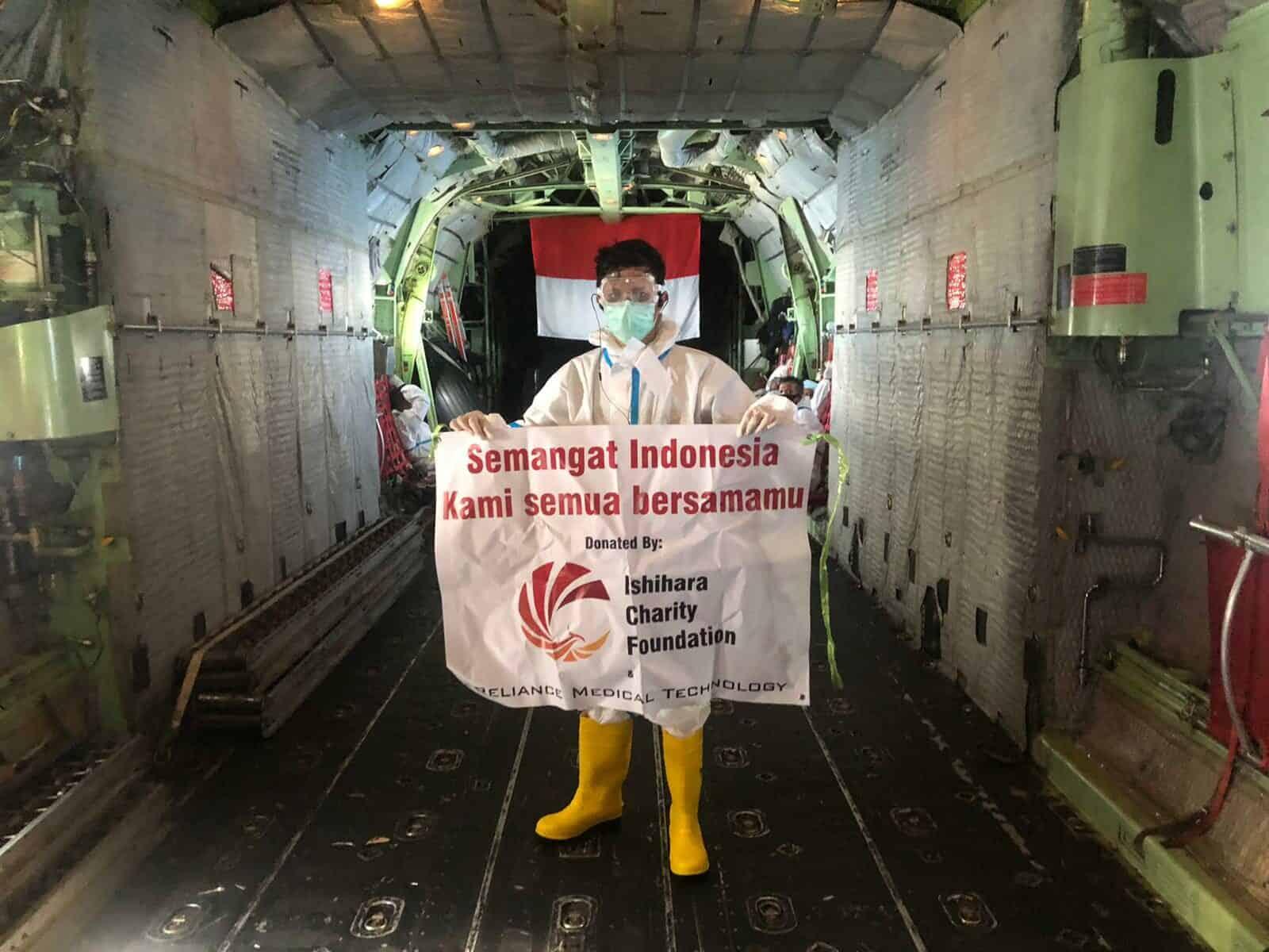 Hercules TNI AU Jemput Bantuan Yayasan Taiwan dari Kamboja