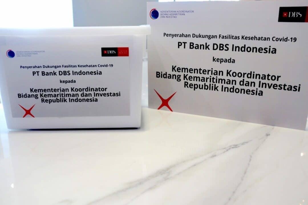 Lawan Covid-19, Kemenko Marves Gandeng Bank DBS Indonesia Sumbang Peralatan Medis dan Paket Sembako Senilai 26,2 Miliar Rupiah