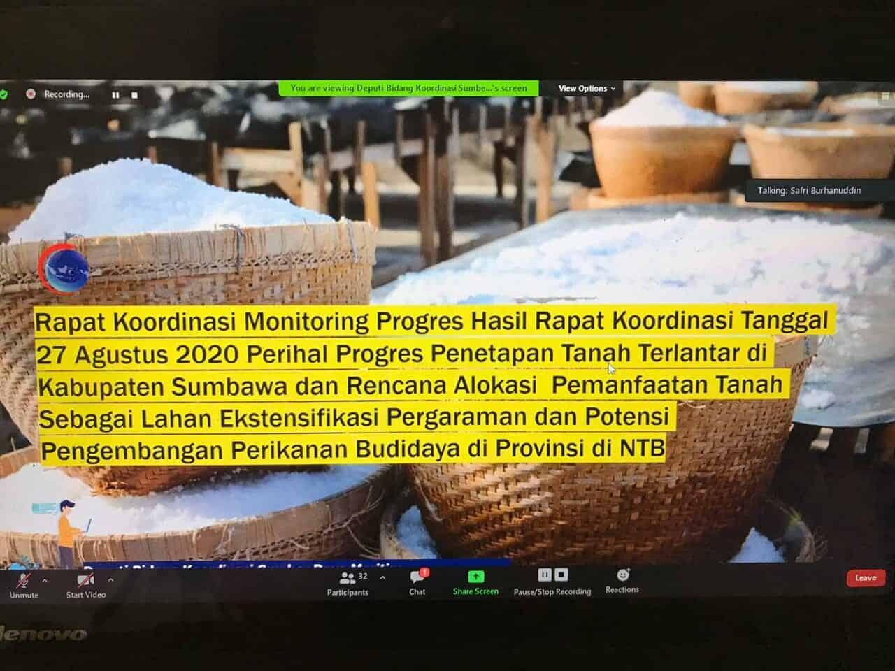 Kemenko Marves Fokuskan 3 Lokasi di Kabupaten Sumbawa Sebagai Lahan Eksistensi Pergaraman