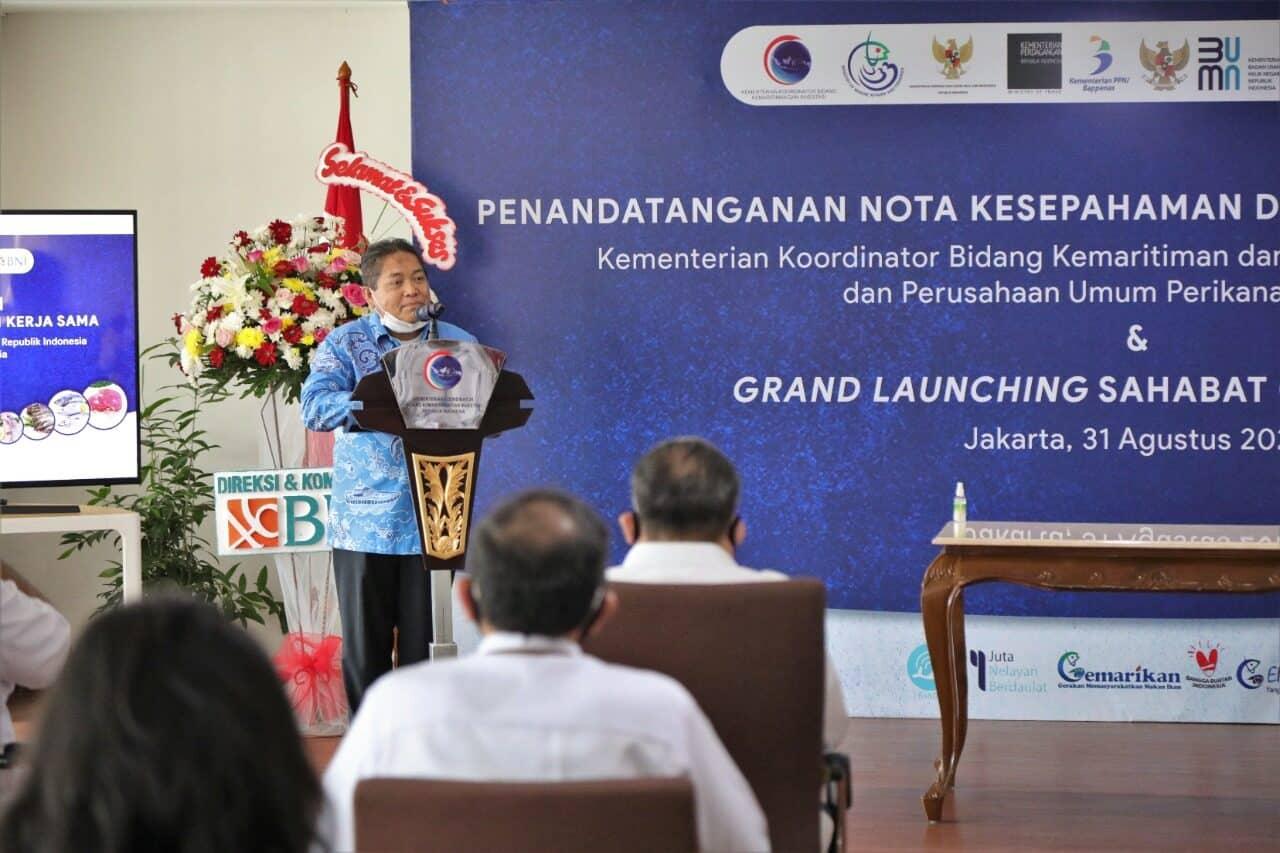 Bekerja Sama dengan Perum Perindo, Kemenko Marves Lakukan Akselerasi Pemasaran Produk Kelautan dan Perikanan Dalam Negeri.