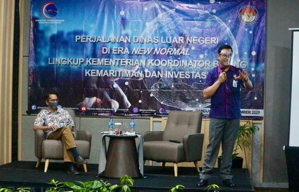 Selaraskan Kesiapan Perjalanan Dinas Luar Negeri, Kemenko Marves Selenggarakan Workshop Perjalanan Dinas Luar Negeri di Era New Normal