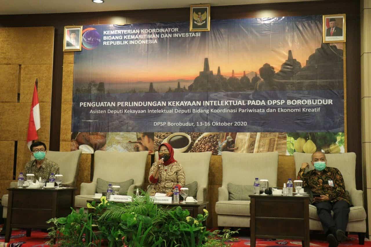 Kemenko Marves melakukan Penguatan Perlindungan Kekayaan Intelektual pada Destinasi Pariwisata Super Prioritas Borobudur