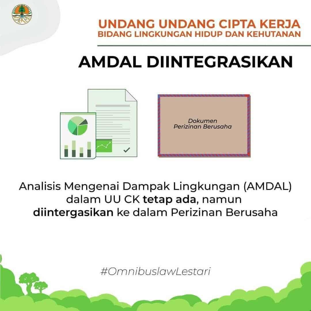 AMDAL Tidak Dihapuskan