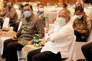 Menko Marves Luhut Memberikan Sambutan Pada Acara Perjanjian Pengusahaan Jalan Tol Dan Penjaminan Proyek Jalan Tol Solo Yogyakarta