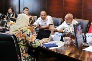 Menko Luhut Melakukan Vidcon Rakor Terkait Progress Pengembangan Food Estate Di Sumatera Utara