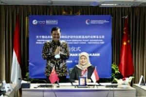 Menko Luhut Melakukan Vidcon Bersama Vice Chairman NDRC