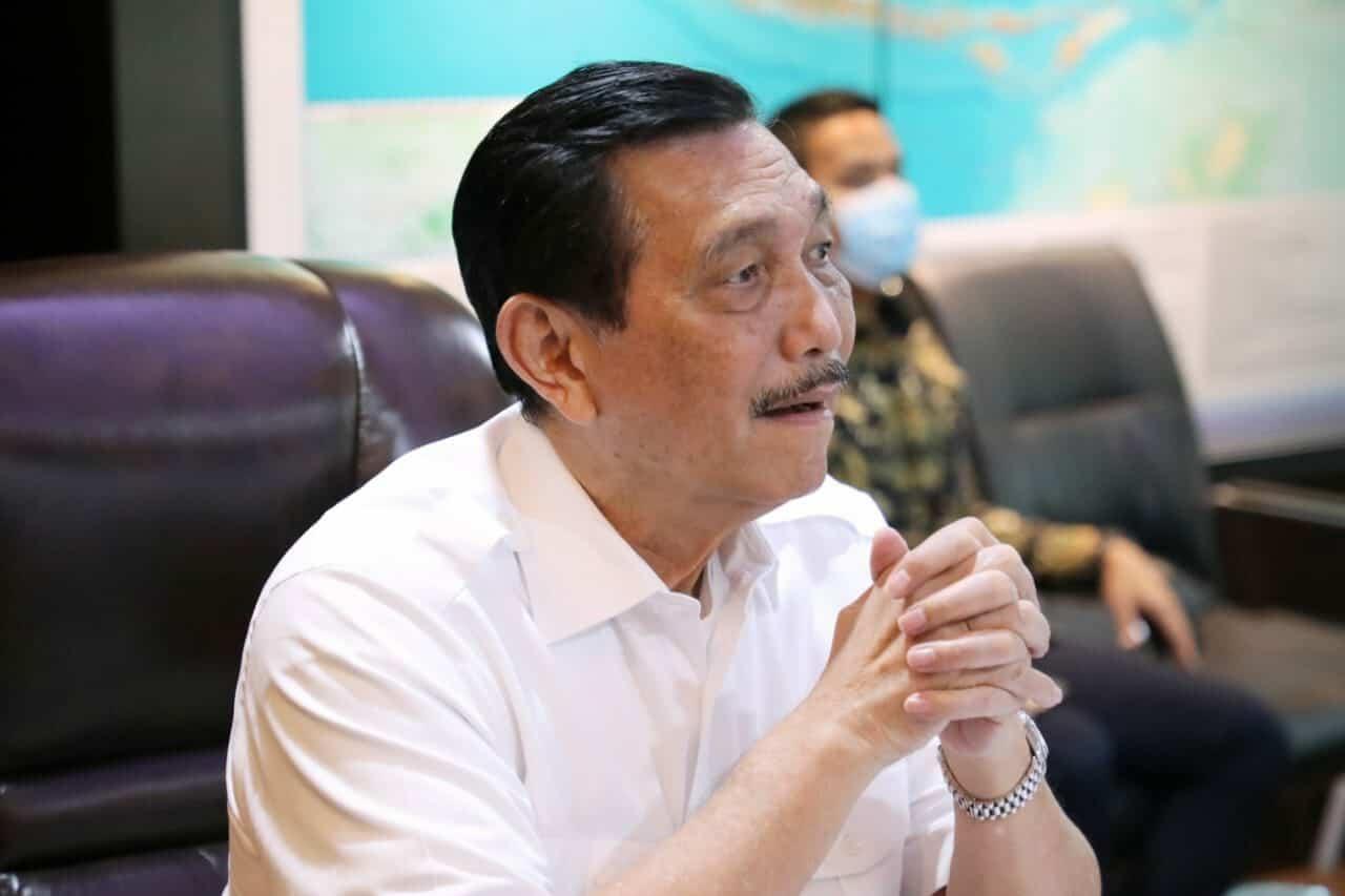 Menko Marves Luhut Melakukan Vidcon Rapat Intern Optimalisasi Ekspor Di Bidang Perkebunan Dalam Upaya Pemulihan Ekonomi Nasional