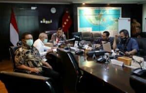 Menko Marves Luhut Pimpin Vidcon Rakor Implementasi Program P3DN Pada Sektor Minyak Dan Gas Bumi
