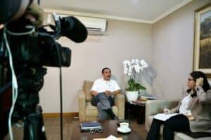 Interview Menko Marves dengan Reuters