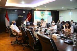 Menko Marves Video Conference Rakor Evaluasi Perkembangan Gerakan Nasional Bangga Buatan Indonesia