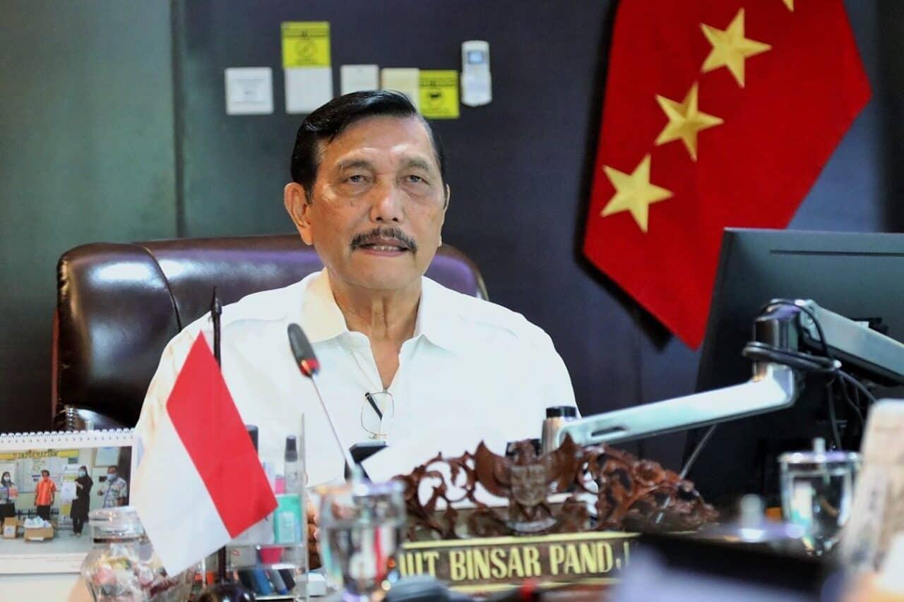 Menko Luhut Video Conference Rakor Pembahasan progress Food Estate di Kalimantan Tengah