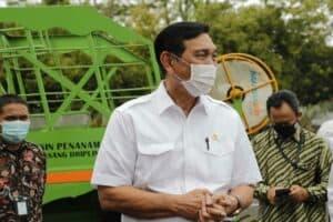 Kunjungan Menko Luhut ke BBPMP Tinjauan Alat dan Mesin Pertanian, di BBPM