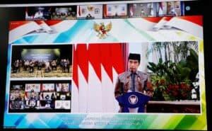 Menko Luhut Hadiri Video Conference Acara Peluncuran Gerakan Nasional Wakaf Uang dan Peresmian Brand Ekonomi Syariah oleh Presiden RI