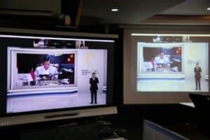 Menko Luhut Pimpin Video Conference Keynote Speaker Mandiri Investment Forum dari Bank Mandiri