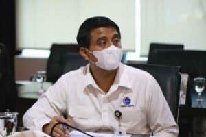 Video Conference dengan Fosun Pharma di Kantor Kemaritiman