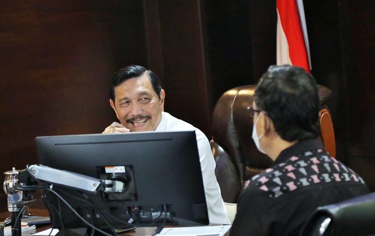"Menko Luhut Vidcon Rakor Tindak Lanjut ""Bangga Berwisata di Indonesia Aja"""