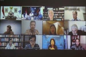Menko Luhut Vidcon Meeting Agenda Center for Future Knowledge