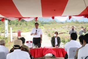 Kunjungan kerja Menko Luhut ke KHDTK Pollung, Humbang Hasundutan