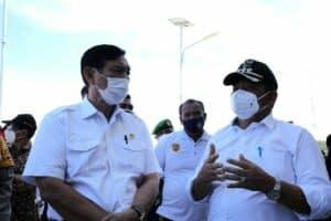 Kunjungan Kerja Menko Luhut ke Pulau Samosir, Pelabuhan Ambarita, Huta Siallagan, Tano Ponggol, Jumat (12-02-2021)
