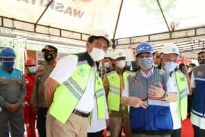 Kunjungan kerja Menko Luhut ke Gerbang Tol Sarbelawan, Sabtu (13 – 02 – 2021)
