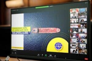 Vidcon Menko Rakor Tindak Lanjut Penangkapan Kapal Iran dan Panama