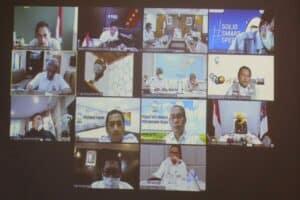 Menko Luhut Pimpin Video Conference Rapat Koordinasi Pengelolaan Limbah Danau Toba