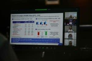 Menko Luhut Pimpin Video Conference Progress Penyehatan PT ASABRI