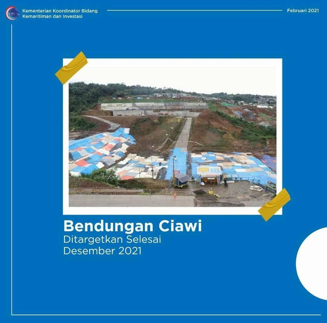Bendungan Ciawi Ditargetkan Selesai Desember 2021
